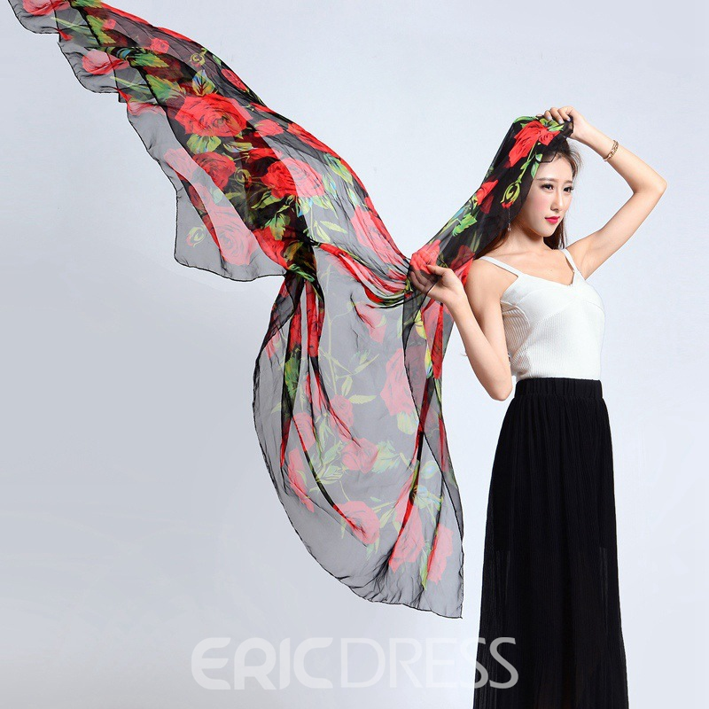 Ericdress Big Printed Beach Scarf
