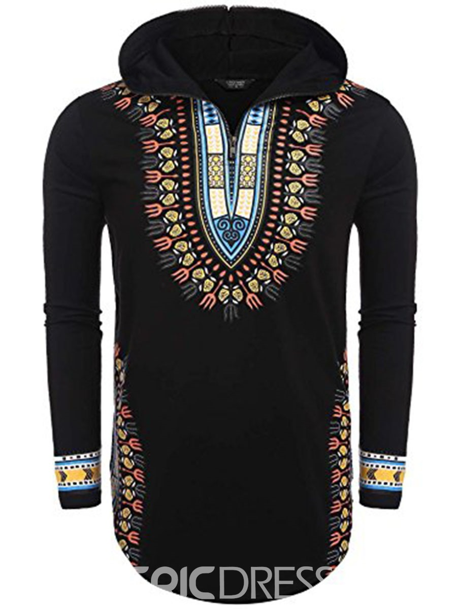 a7e26938d5 Ericdress Dashiki African Print Hooded Pullover Men's Hoodie(13192255)