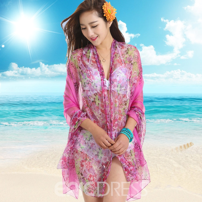 Ericdress Chiffon Printed Beach Scarf for Women