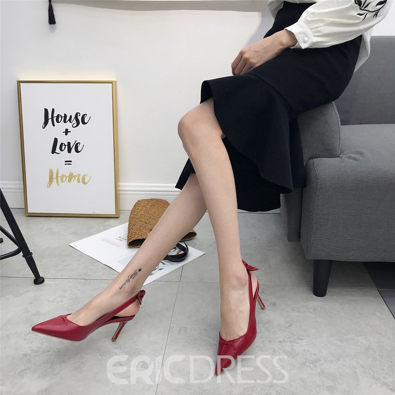 Ericdress Pointed Toe Slingback Strap Stiletto Sandals