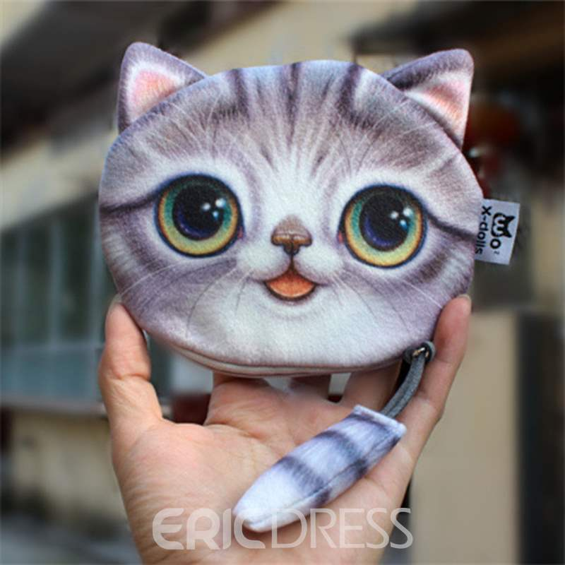 Ericdress 3D Kitty Shape Mini Wallet
