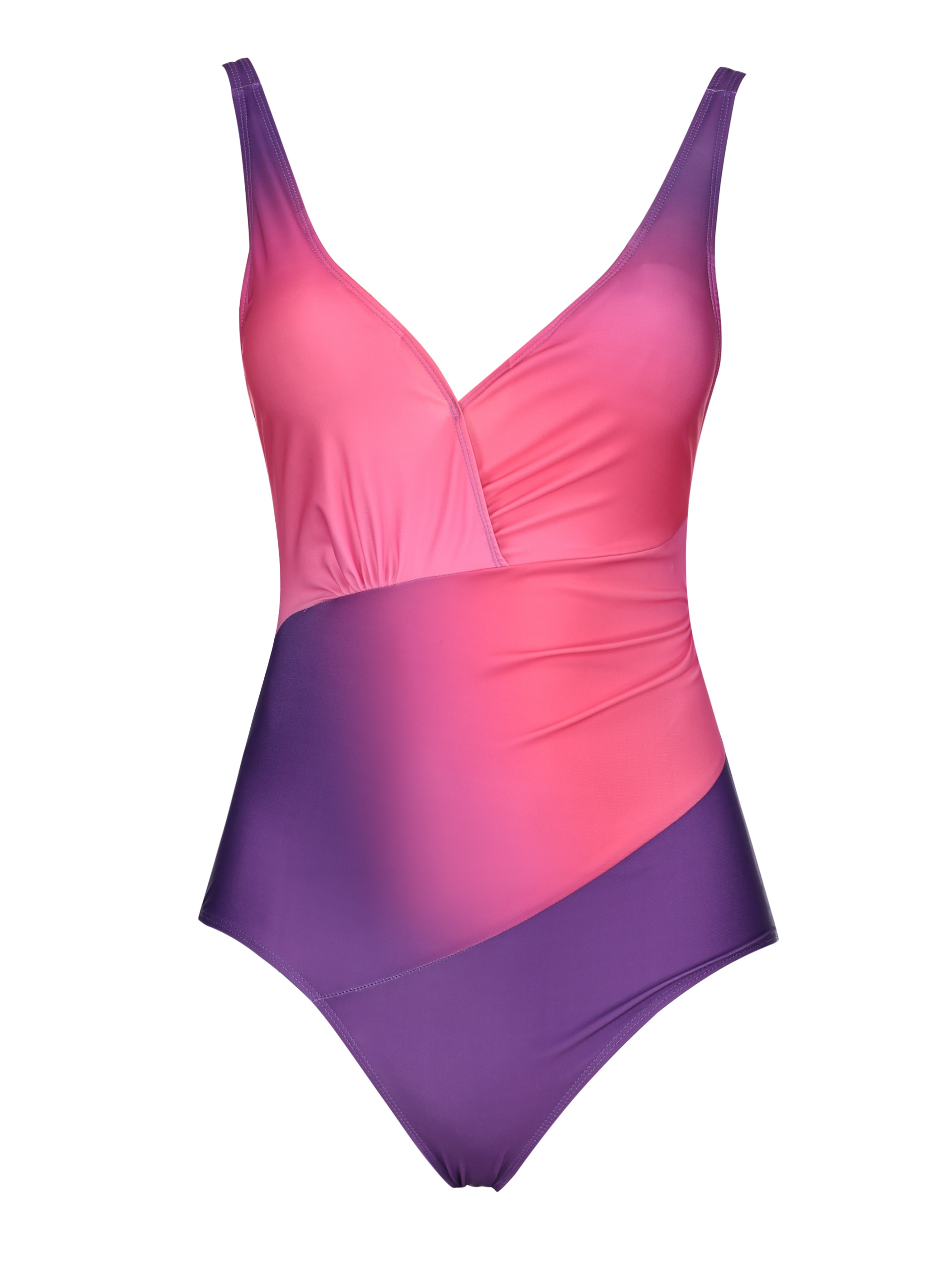 Ericdress Pleated Gradient Monokini (Plus Size Available)