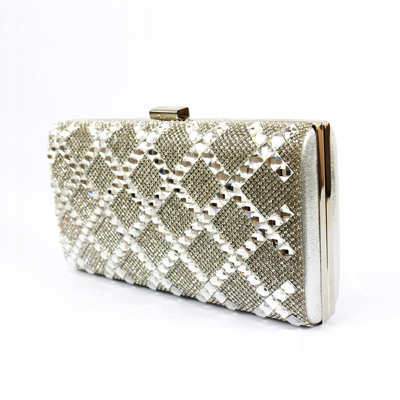 Ericdress Rhinestone Rhombus Design Women Clutch