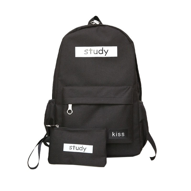 Ericdress Casual Canvas Backpack (Two Bags Set)