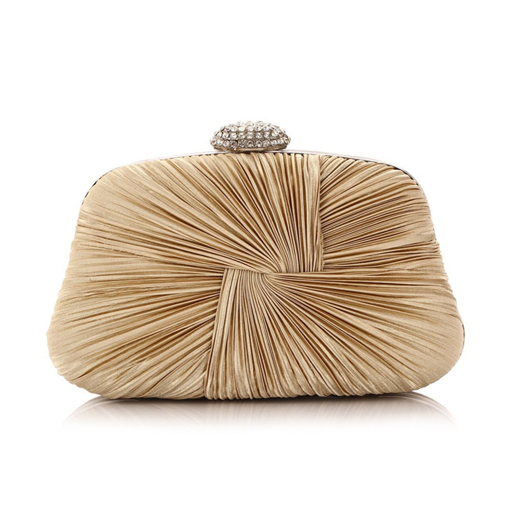 Ericdress Pleated Solid Color Women Clutch