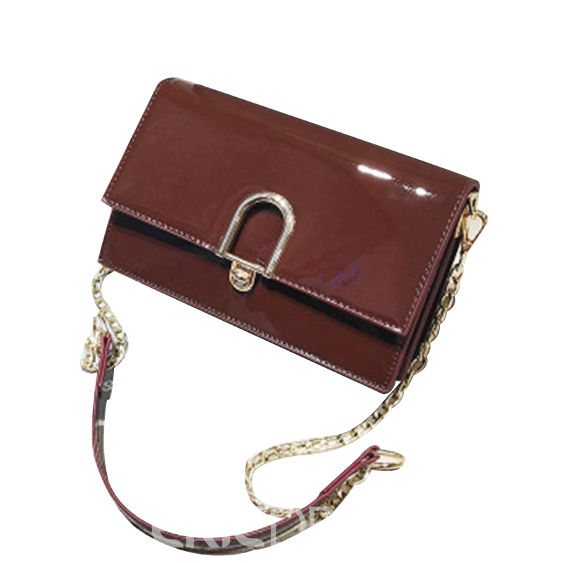Ericdress Glossy Plain Women Crossbody Bag