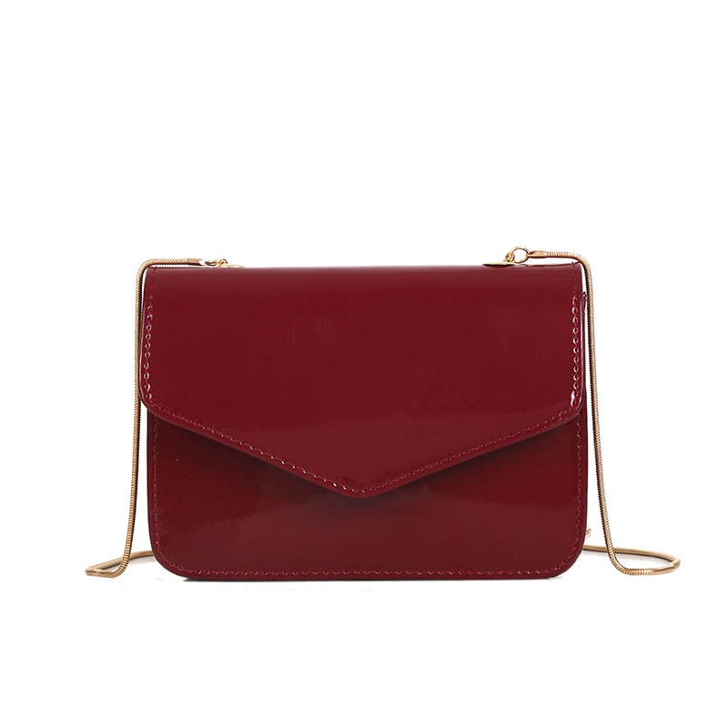 Ericdress Solid Color PU Mini Crossbody Bag