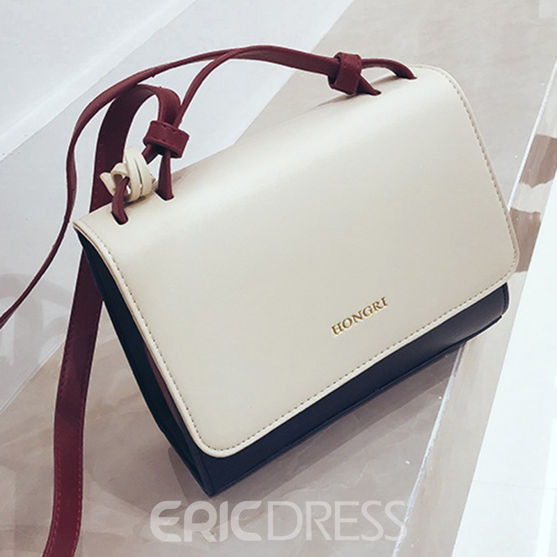 Ericdress Occident Style Color Block Women Crossbody Bag