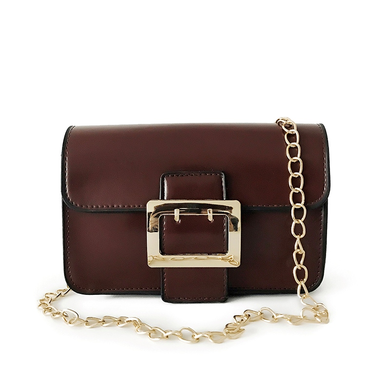 Ericdress Belt Decorated Chain Crossbody Bag