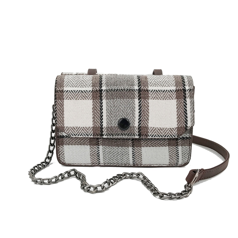 Ericdress Simple Plaid Crossbody Bag