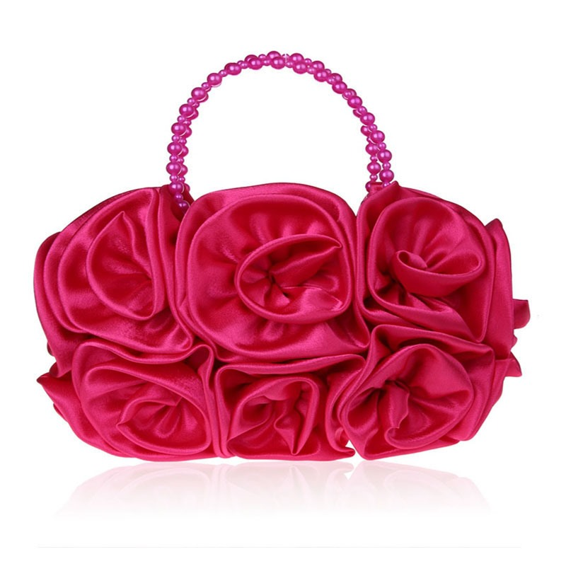 Ericdress Velour Floral Decoration Women Clutch
