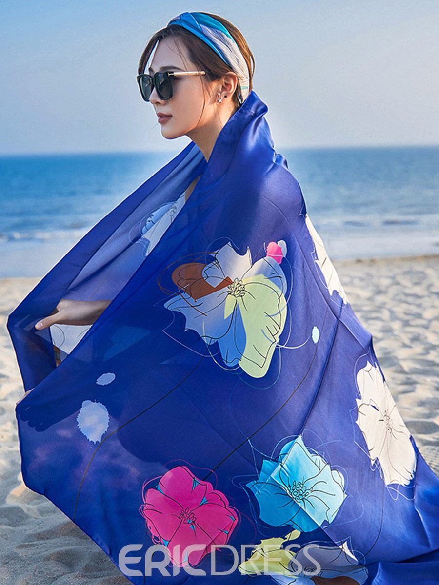 Ericdress Plant Floral Rectangle Beach Cover Ups