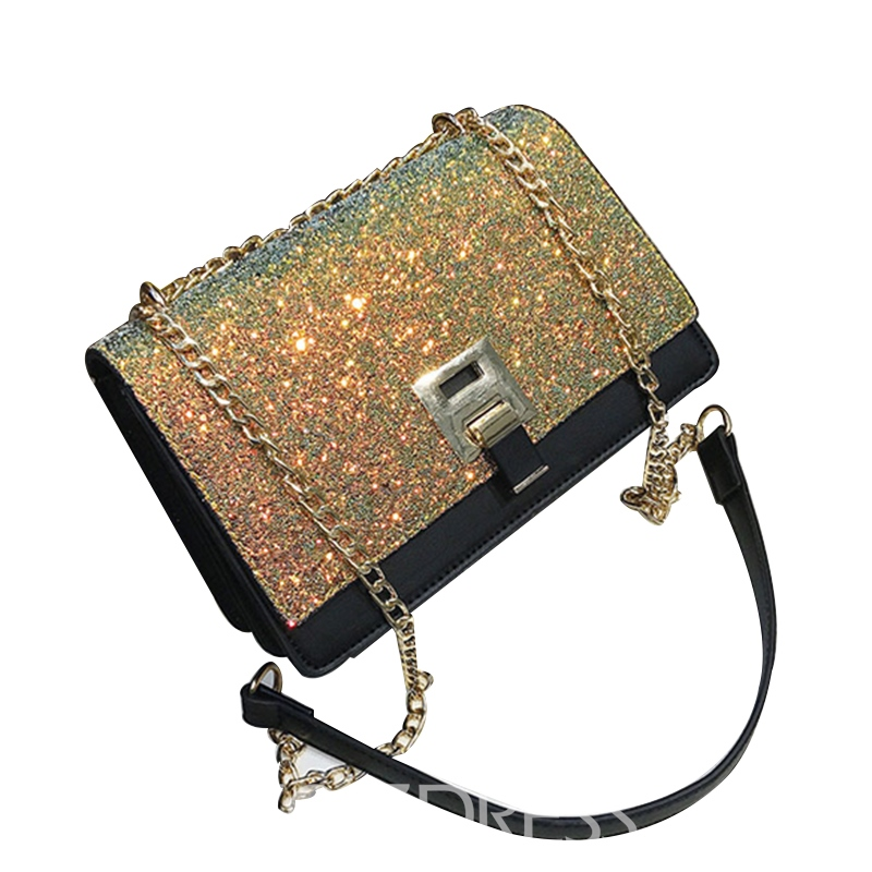Ericdress Korean Style Sequins PU Crossbody Bag