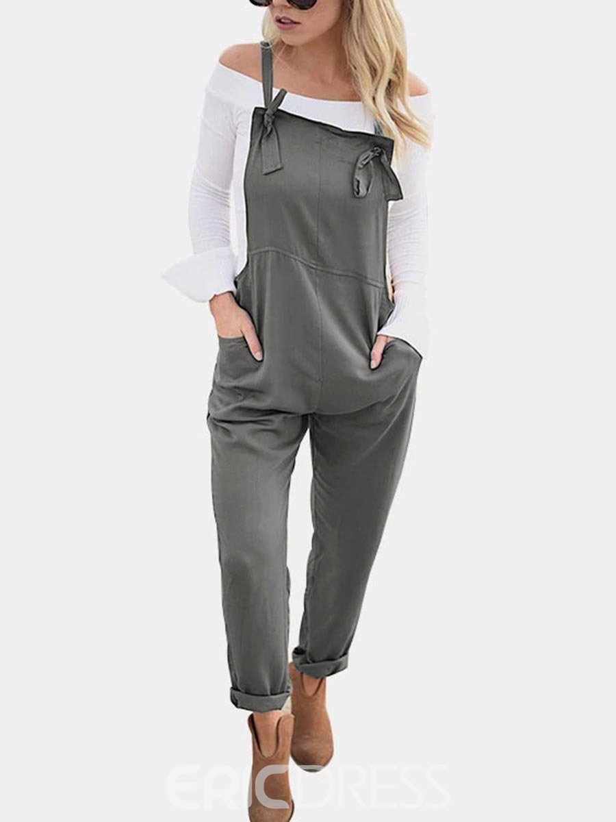 Ericdress Loose Plain Ankle-Length Women's Overall