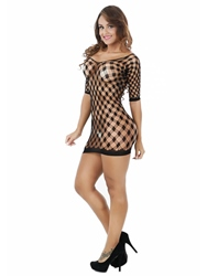 Ericdress Plaid Tight Wrap See-Through Sexy Chemise фото