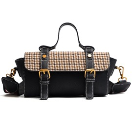 Ericdress Plaid Color Block Women Crossbody Bag