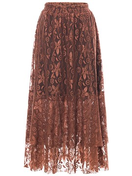 Ericdress Lace Ankle-Length A-Line Women's Skirt