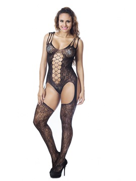 Ericdress Hollow Spaghetti Strap Women's Sexy Pantyhose Bodystocking
