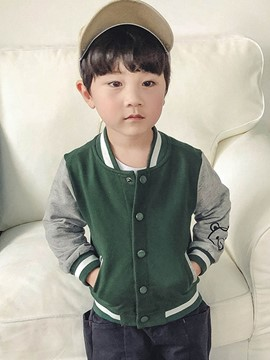 Ericdress Stand Collar Single Breasted Patchwork Baby Boy's Outerwear