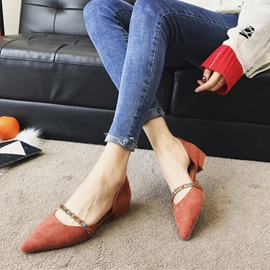 Ericdress Comfy Chain Pointed Toe Women's Flats
