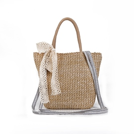 Ericdress Concise Knitted Women Straw Handbag