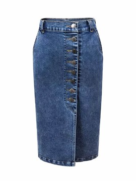Ericdress Denim Bodycon Knee-Length Women's Skirt