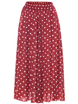 Ericdress Ankle-Length Polka Dots Women's Skirt