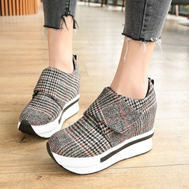 Ericdress Plaid Round Toe Low-Cut Women's Sneakers