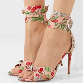 Ericdress Print Plant Open Toe Stiletto Sandals
