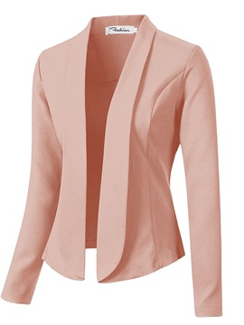 Ericdress Plain Slim Wrapped Blazer