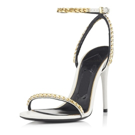 Ericdress Chain Ankle Strap Plain Stiletto Sandals