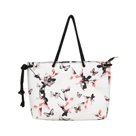 Ericdress Floral Prints Zipper Shoulder Bag