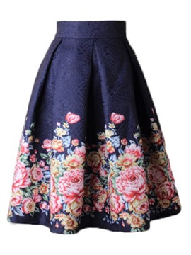 Ericdress High-Waist Floral Print Women's Skirt