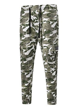 Ericdress Camouflage Lace Up Print Mens Pants