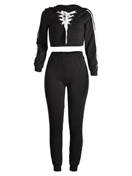 Ericdress Hoodie and Pants Women's Suit