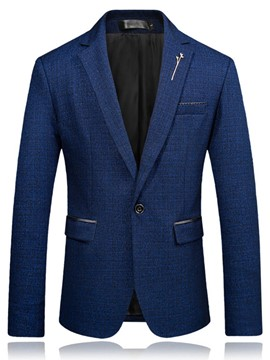Ericdress Slim Fit One Button Plain Mens Blazer Jacket