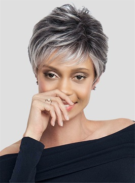 Ericdress Short Layered Synthetic Capless Black Women Wigs
