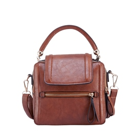 Ericdress Casual Plain Mini PU Crossbody Bag