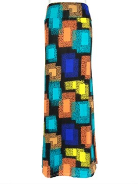Ericdress Print Mermaid Women's Long Skirt