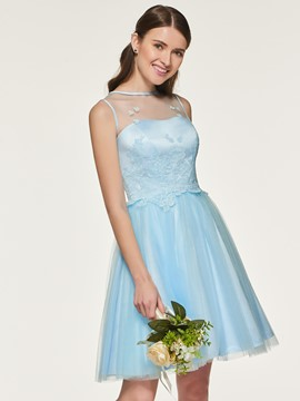 Ericdress A Line Tulle Short Bridesmaid Dress