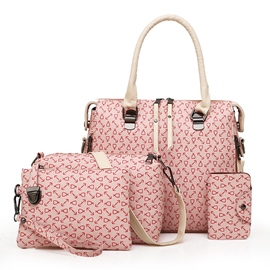Ericdress Casual Prints Plain Women Bag Set( 4 Bag Set)