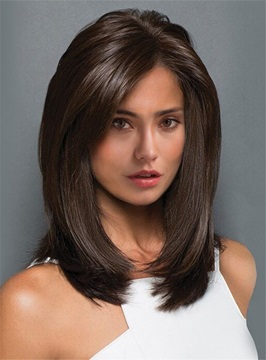 Ericdress Middle Length Straight Blunt Cut Synthetic Capless Wigs 14 Inches