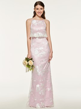 Ericdress Long Lace Sheath Bridesmaid Dress