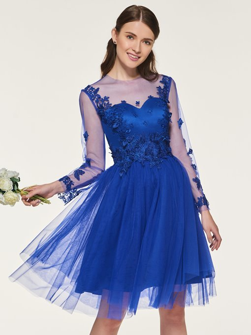 Ericdress Appliques Long Sleeves Short Bridesmaid Dress