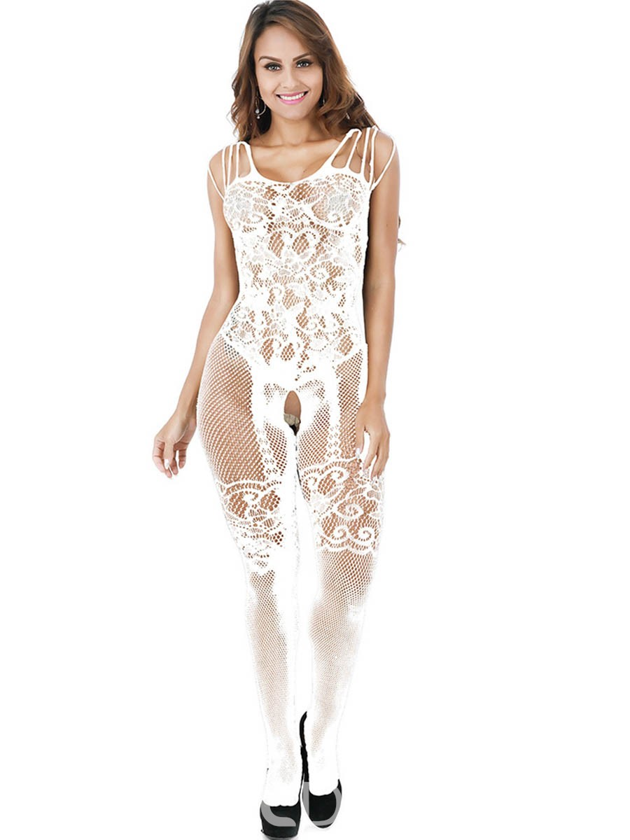 Ericdress Crotchless Mesh See-Through Pantyhose