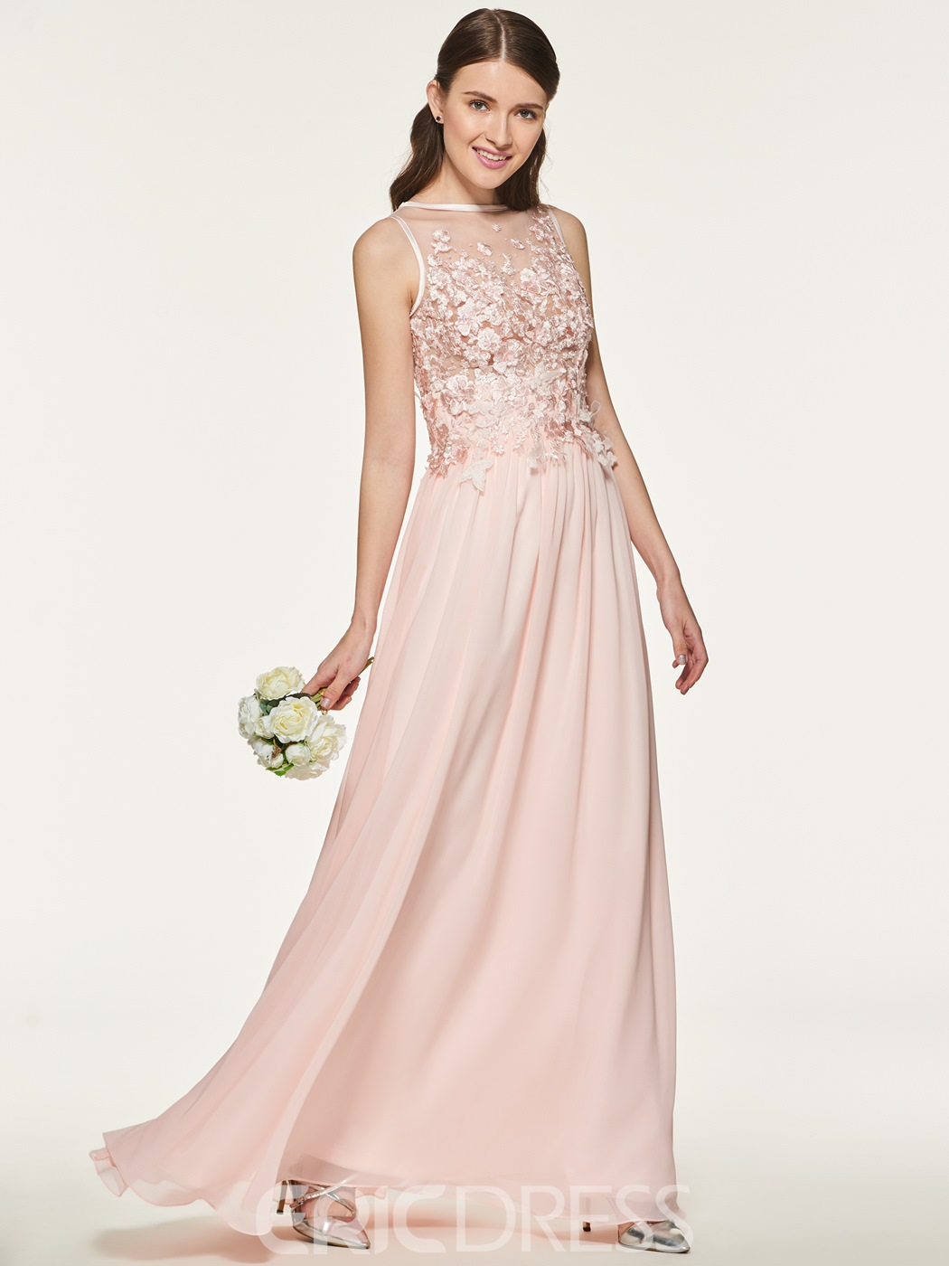 Ericdress A Line Appliques Chiffon Bridesmaid Dress