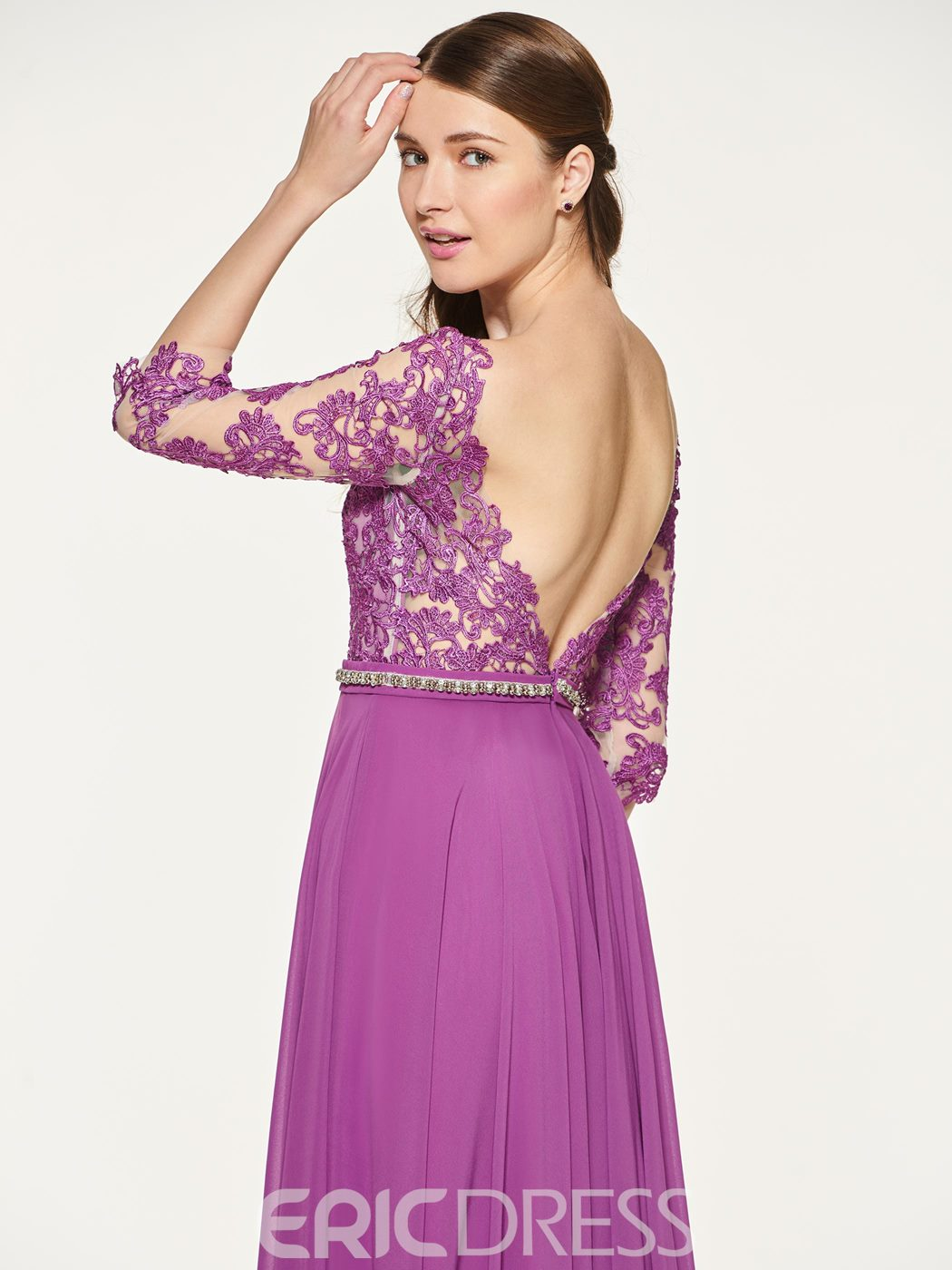Ericdress A Line Backless Long Bridesmaid Dress