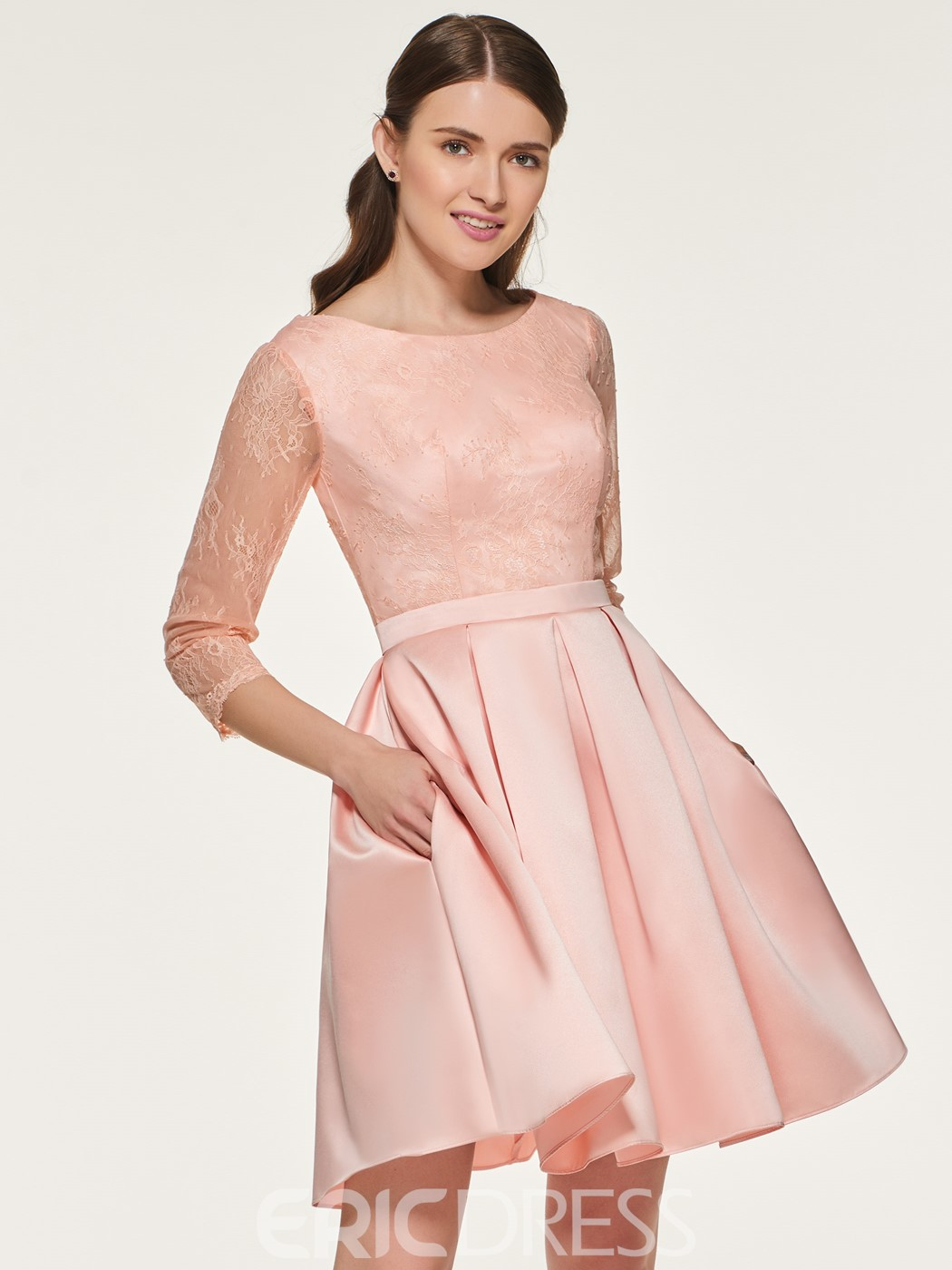 Ericdress A Line Lace Short Bridesmaid Dress