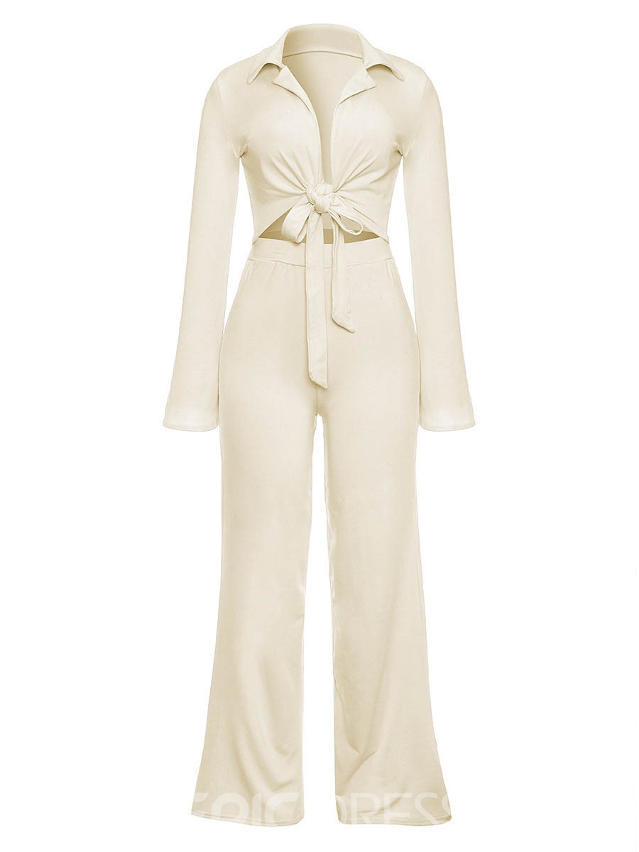 Ericdress Shirt and Pants Women's Two Piece Set
