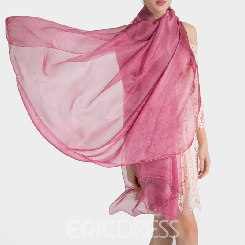 Ericdress Pure Color Imitated Silk Fabric Women's Scarf